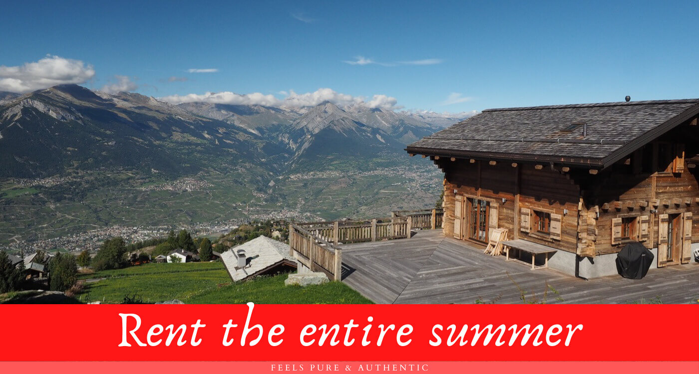 Rent the entire summer chalet altitude 1600 in nendaz